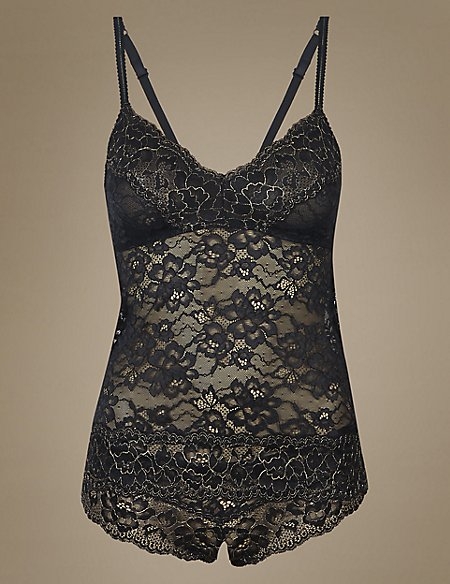 Sparkle Lace Camisole Set