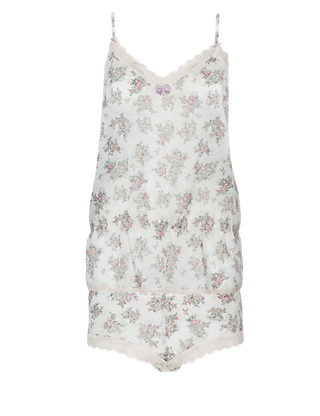 Floral Chiffon Camisole & Shorts Set Clothing
