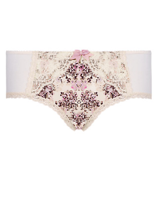 Floral Lace Low Rise Shorts Clothing