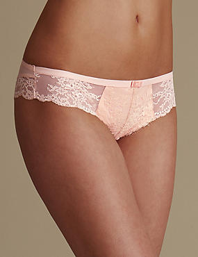 Eyelash Lace Low Rise Brazilian Knickers