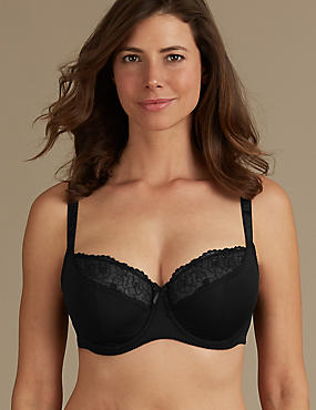 2 Pack Embroidered Balcony Bras DD-G