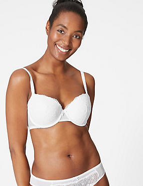 2 Pack Padded Push-up Balcony Bras A-E