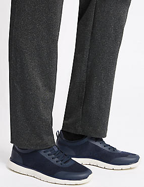 Lace-up Trainers, NAVY MIX, catlanding