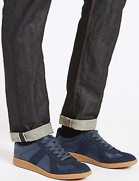 Lace-up Trainers, DENIM MIX, catlanding