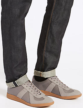 Lace-up Trainers, GREY MIX, catlanding