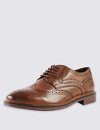 Leather Brogue Shoes Clothing