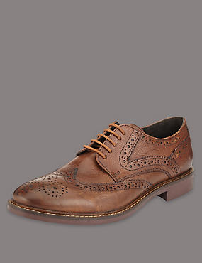 Big & Tall Leather Brogue Shoes