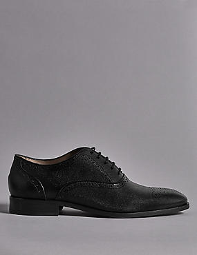 Leather Scotch Grain Brogue Shoes