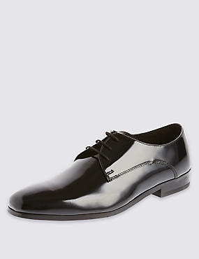 Lace-up Pointed Derby Shoes