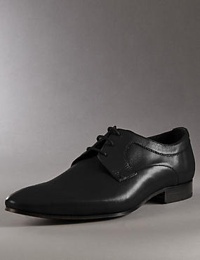 Leather Lace Up Derby Shoes