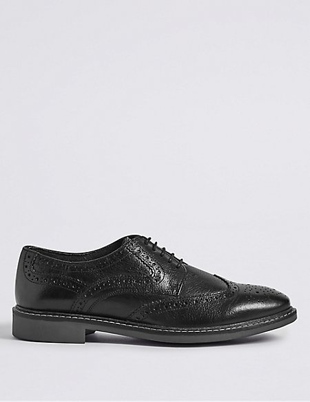 Big & Tall Leather Red Sole Brogue Shoes