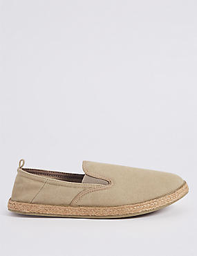 Cotton Slip-on Espadrilles