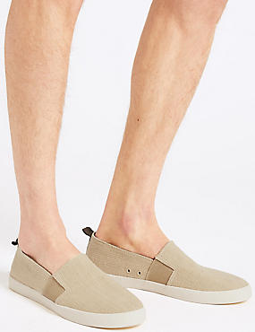 Marks and Spencer Canvas Slip-on Pump Shoes coral
