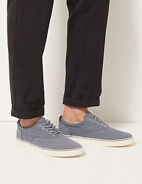 Lace-up Pump Shoes, CHAMBRAY, catlanding