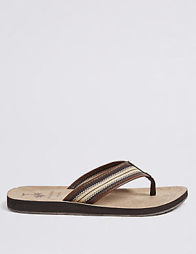 Striped Detail Slip-on Flip Flops