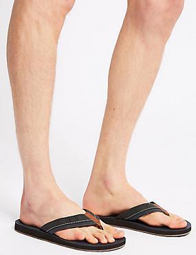 Perforated Slip-on Flip Flops, GREY MIX, catlanding