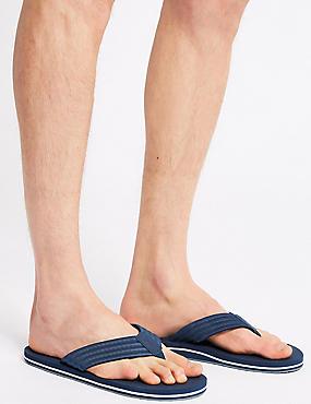 Slip-on Flip Flops, NAVY, catlanding
