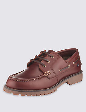 Leather Lace-up Heavyweight Boat Shoes