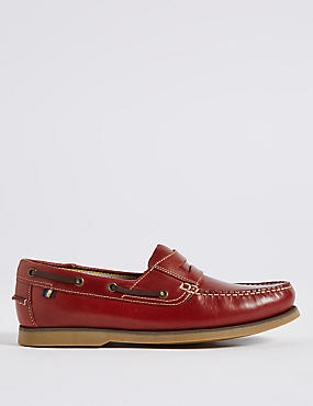 Big & Tall Leather Boat Shoes with Freshfeet™