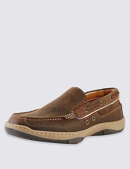 Leather Deck Boat Shoes with Freshfeet™