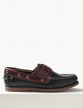 Leather Riptape Boat Shoes with Freshfeet™