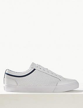 Lace-up Trainers, WHITE, catlanding