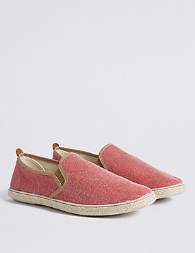 Canvas Espadrille Shoes, MEDIUM RED, catlanding