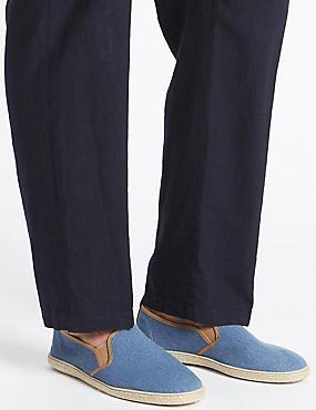 Canvas Espadrille Shoes, DUSTY BLUE, catlanding