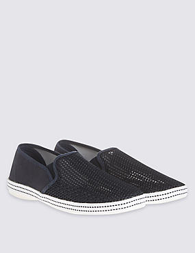 Mesh Espadrille Slip-on Shoes