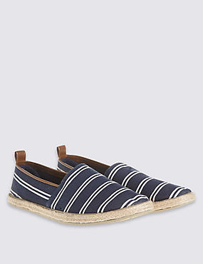Striped Espadrilles Slip-on Shoes