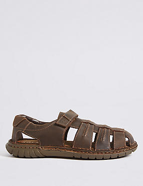 Leather Fisherman Riptape Sandals