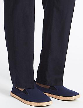 Espadrilles Slip-on Shoes, NAVY, catlanding