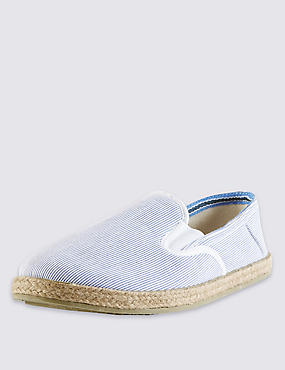 Narrow Striped Espadrilles