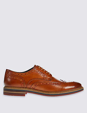 Leather Brogue Lace-up Shoes
