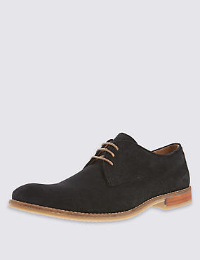 Suede Lace Up Derby Shoes