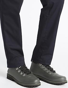Waterproof Lace-up Boots, HUNTER GREEN, catlanding