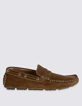 Suede Driver Slip-on Shoes