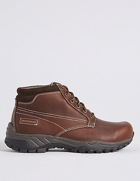 Leather Lace-up Storm Gibson Boots