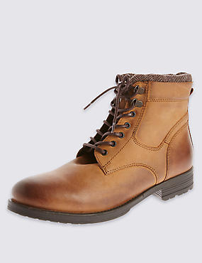 Leather Lach Up Boots