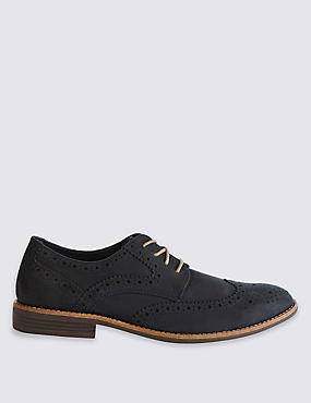 Suedette Brogue Shoes