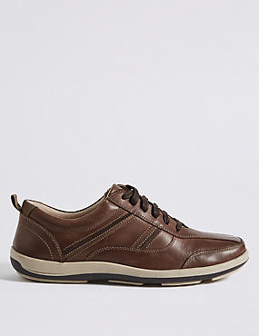 Leather Lace-up Shoes with Airflex™