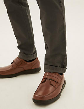 Extra Wide Fit Leather Shoes with Airflex™, TAN, catlanding