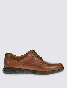 Wide fit Leather Lace-up Shoes