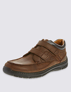 Airflex™ Leather Extra Wide Fit Riptape Slip-On Shoes