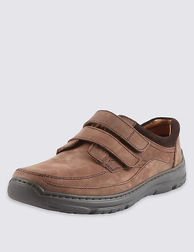 wide leather shoes with airflex m s