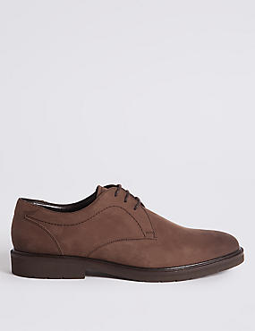 Leather Lightweight Lace-up Derby Shoes with Airflex™