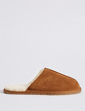 Shearling Slip-on Mule Slippers