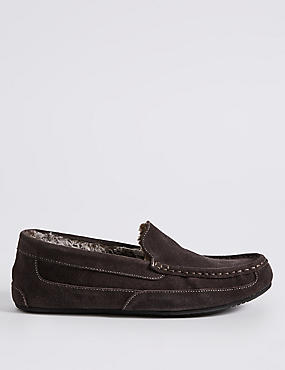 Suede Moccasin Slippers with Thinsulate ™