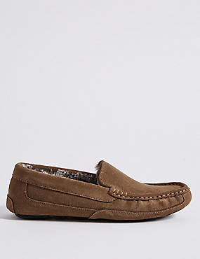 Suede Slipper with Driver Sole & Freshfeet™