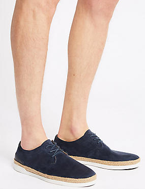 Lace-up Fashion Trainers, NAVY, catlanding